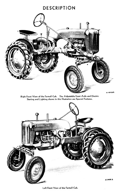 1951 Farmall Cub Tractor Owner's Manual